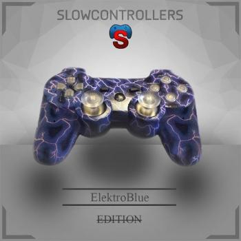 SlowControllers - PS3 SCUF ElektroBlue (blue Full Led)